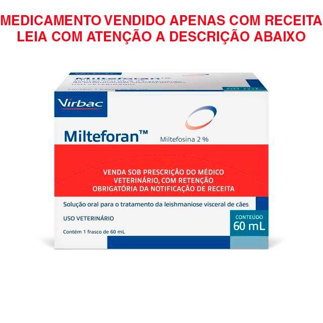 Medicamento Virbac Milteforan 60ml