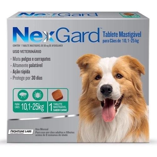 Nexgard para Cães entre 10,1 e 25kg - 1 Tablete