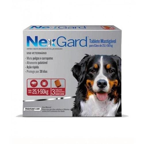 Nexgard para Cães entre 25,1 e 50kg - 3 Tabletes