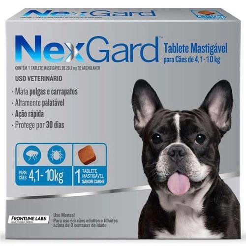 Nexgard para Cães entre 4,1 e 10kg - 3 Tabletes