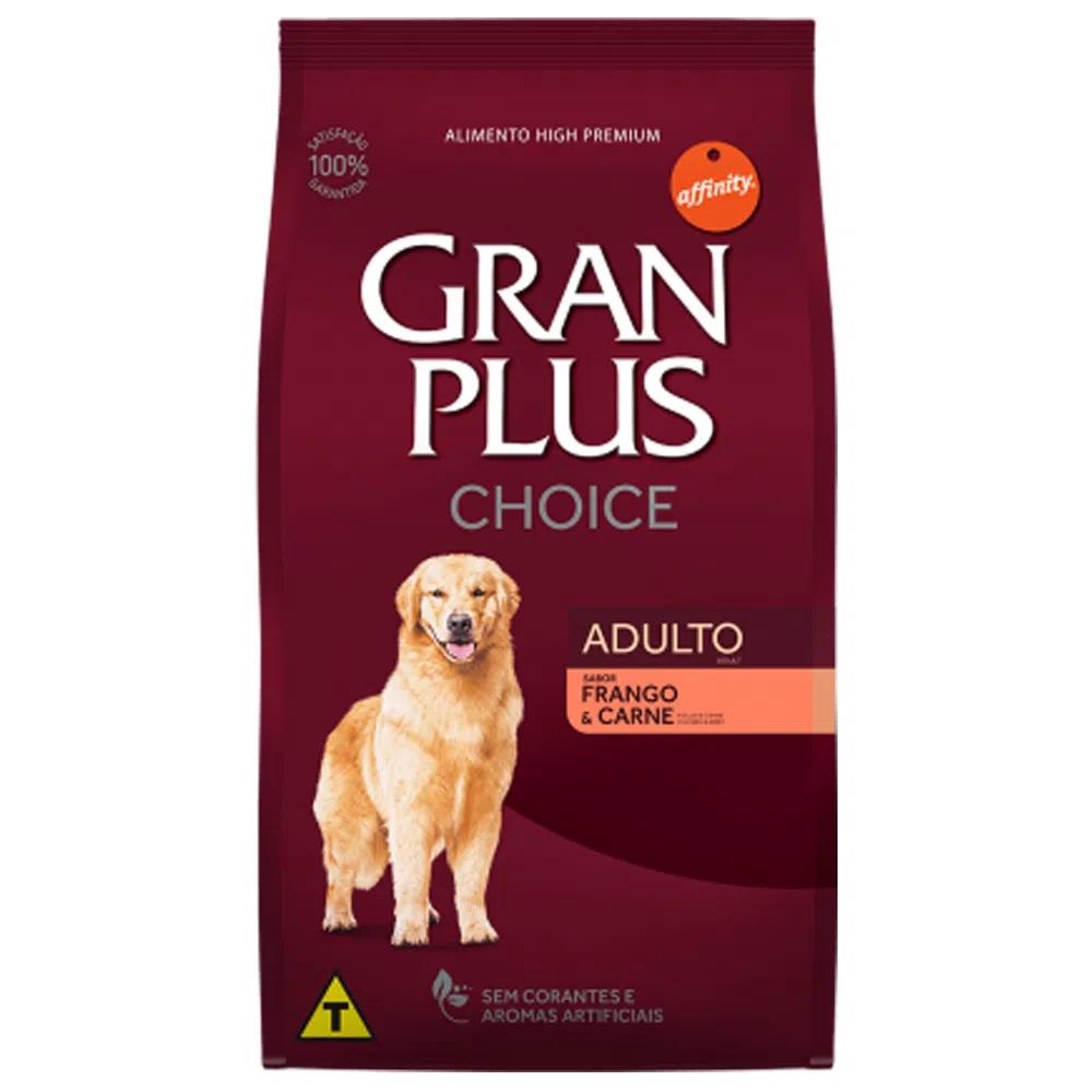 Ração Gran Plus Choice para Cães Adulto Frango e Carne - 15 Kg