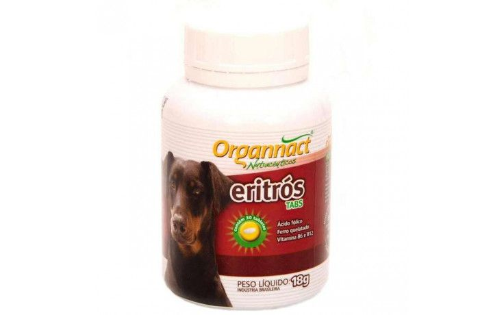 Suplemento Eritrós Dog Organnact 18g 30 Tabletes