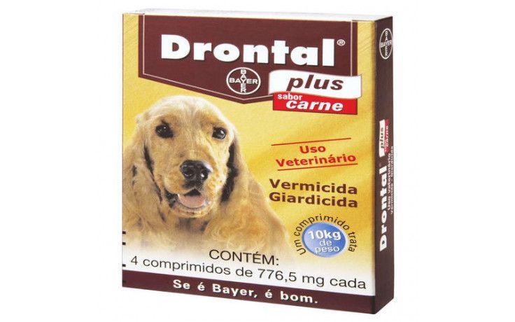 Vermífugo Drontal Plus 10kg Com 4 Comprimidos