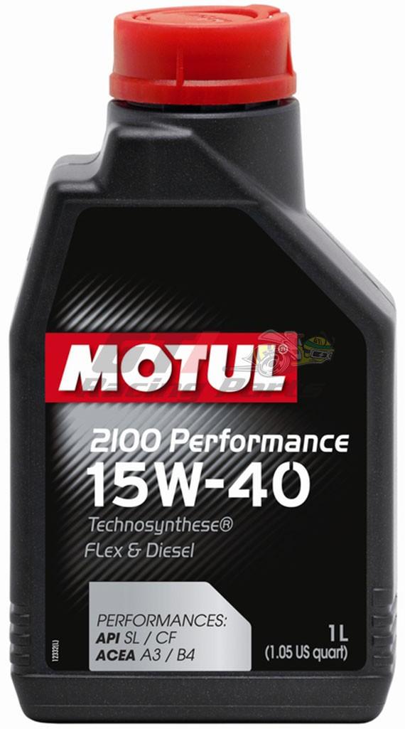 ÓLEO MOTOR 15W40 2100 PERFORMANCE MOTUL 1L