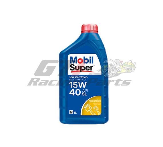 ÓLEO MOTOR 15W40 SUPER SEMI SINTETICO MOBIL 1L
