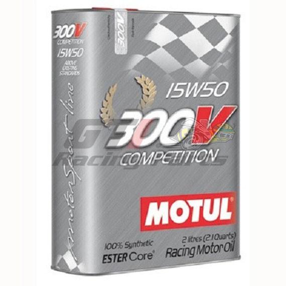 ÓLEO MOTOR 15W50 300V COMPETITION MOTUL 2L