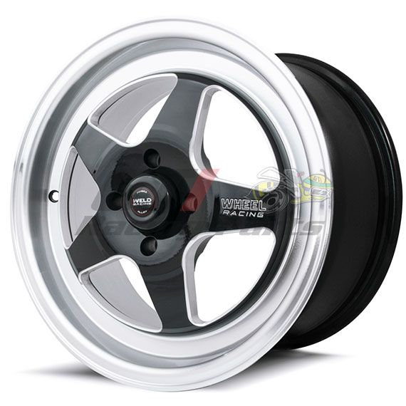 "RODA REPLICA WELD RT-S BLACK 15"" X 8"" - 4 X 100 - RAW WELD"