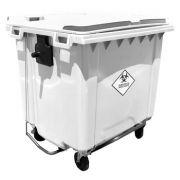 Container de Lixo Hostpitalar 1000 Litros C/Pedal Branco - Contemar