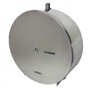Dispenser Papel Higiênico Rolão aço inox 400m com suporte p/ Cadeado - Aurimar 596C