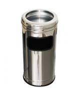 Lixeira Cinzeiro Inox Aro Inox 25lts - MetalSuga