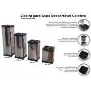 Lixeira para Copos Descartáveis Inox Quadrada - MetalSuga