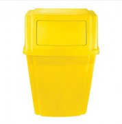 Lixeira Recipiente Slim Jim Paredes  57L- Amarelo  - 1829404 - Rubbermaid