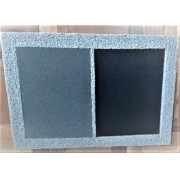 Tapete Higienizador Sanitizante 2x1 70cm x 50cm - espuma com borda de vinil + carpete para secar