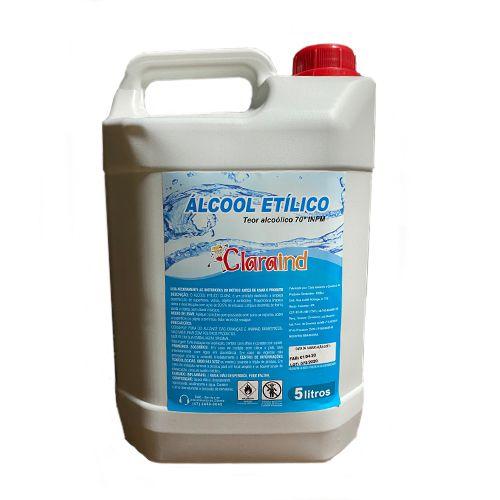 Álcool Líquido 70%  - galão 5 Litros - Claraind