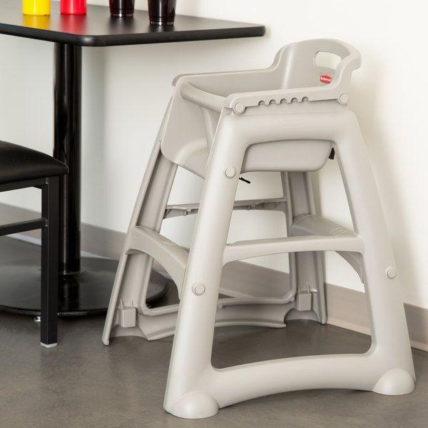 Assento Infantil Sturdy Chair® Cadeirão Alimentação Cinza - Rubbermaid