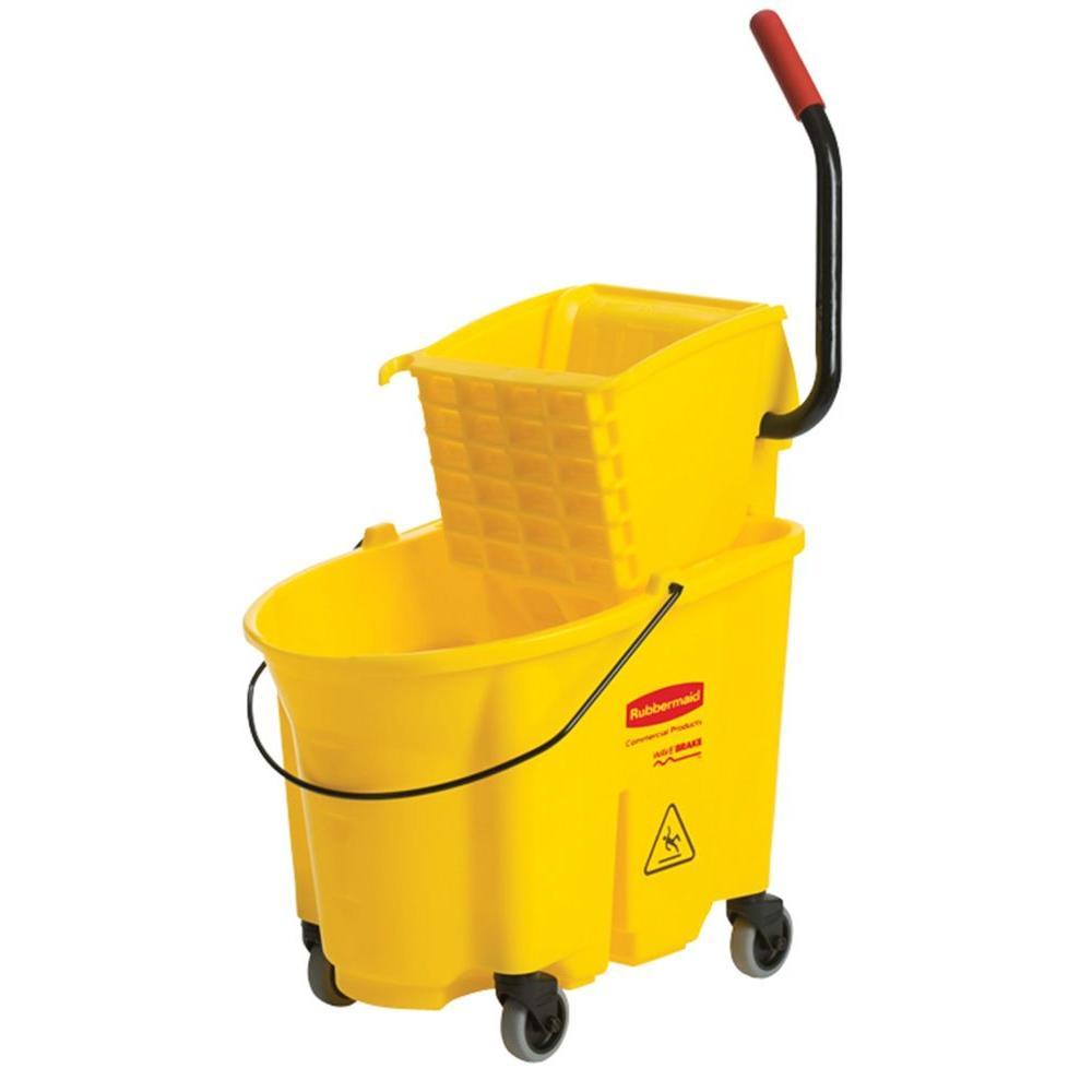Balde Espremedor WaveBrake® 33L Amarelo - Rubbermaid