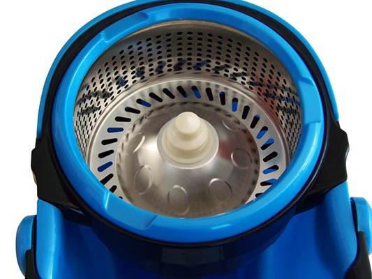 Balde Plástico com Centrífuga em Inox, Mop e Cabo 360º - Perfect Mop Pro