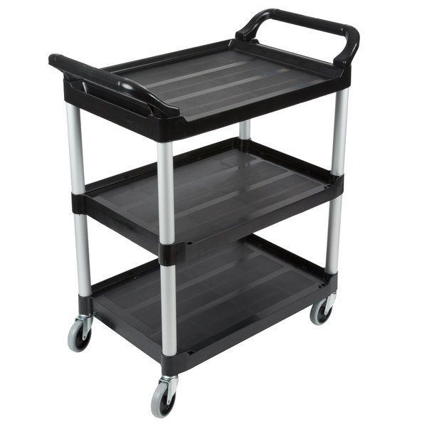Carro Utilitário de Transporte Preto - Rubbermaid