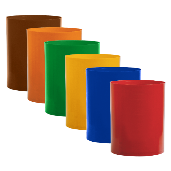 Cesto de Lixo 14 litros s/tampa com Cores da Coleta Seletiva - Bralimpia