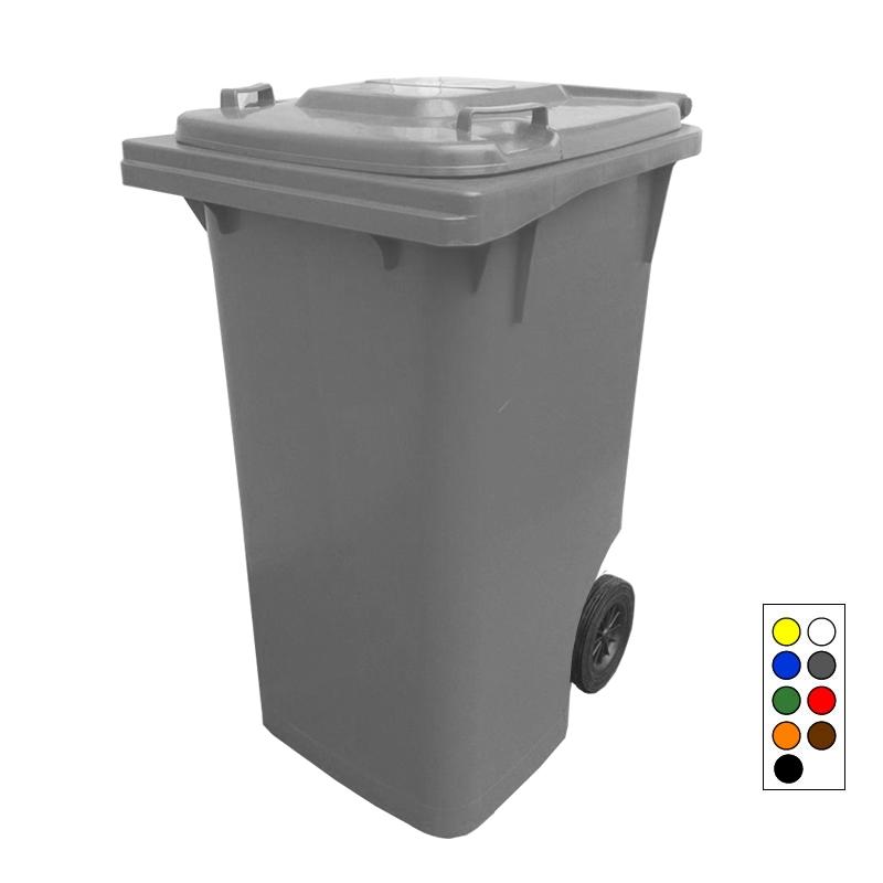 Contentor de Lixo com Tampa e Rodas 240 litros - Bralimpia