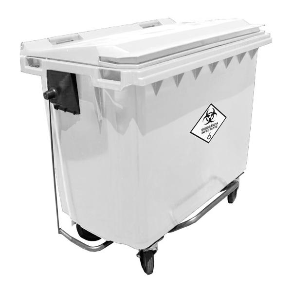 Contentor de Lixo Hostpitalar 660 litros c/Pedal - Contemar