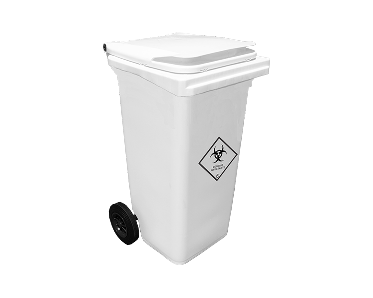 Contentor Hospitalar 360 litros c/ c Pedal Branco - Contemar