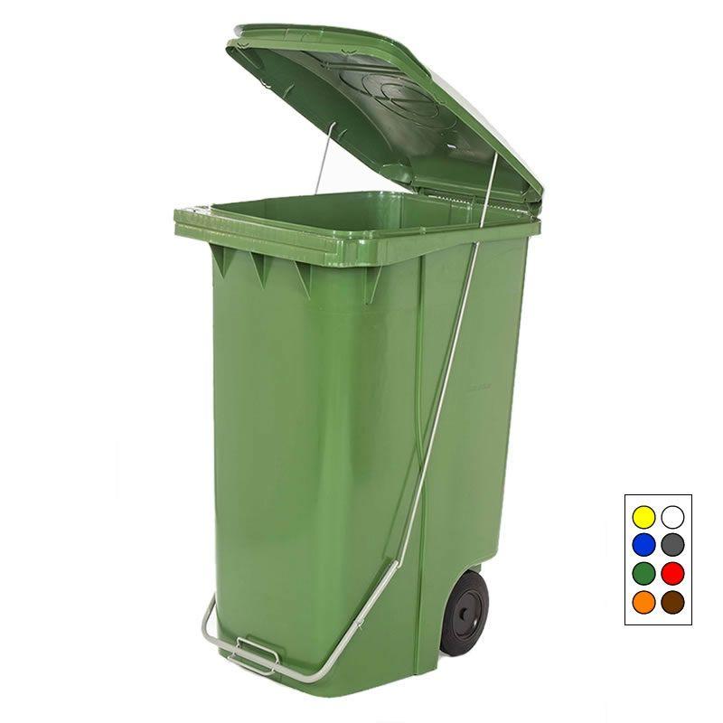 Contentor para Lixo 240 Litros com Pedal e Rodas - Contemar