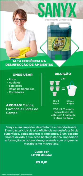 Desinfetante Concentrado 1L - Sanyx Flores do Campo
