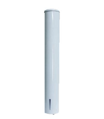 Dispenser Copo Água 180/200ml em Aço com Pintura Epoxi Branco - Aurimar
