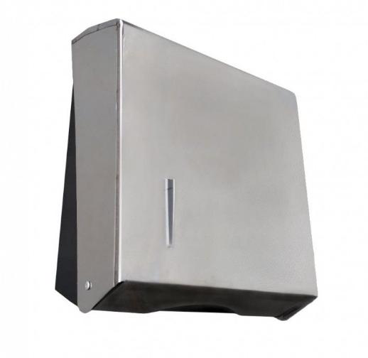 Dispenser p/ Papel Toalha Interfolhado 2 ou 3 Dobras em Aço Inox - TI2825I - Aurimar