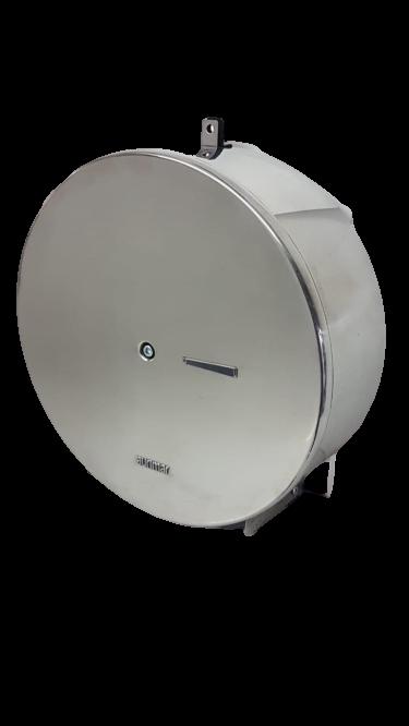 Dispenser Papel Higiênico Rolão 800 mts Aço Inox C/ Suporte p/ Cadeado - Aurimar 598C