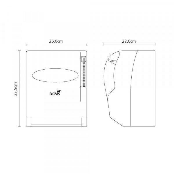 Dispenser Papel Toalha Bobina Alavanca - Biovis