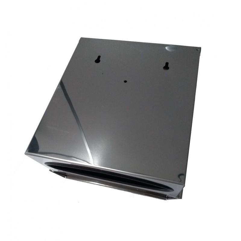 Dispenser Papel Toalha Interfolhado Aço Inox - Biovis Linha Ideal 833