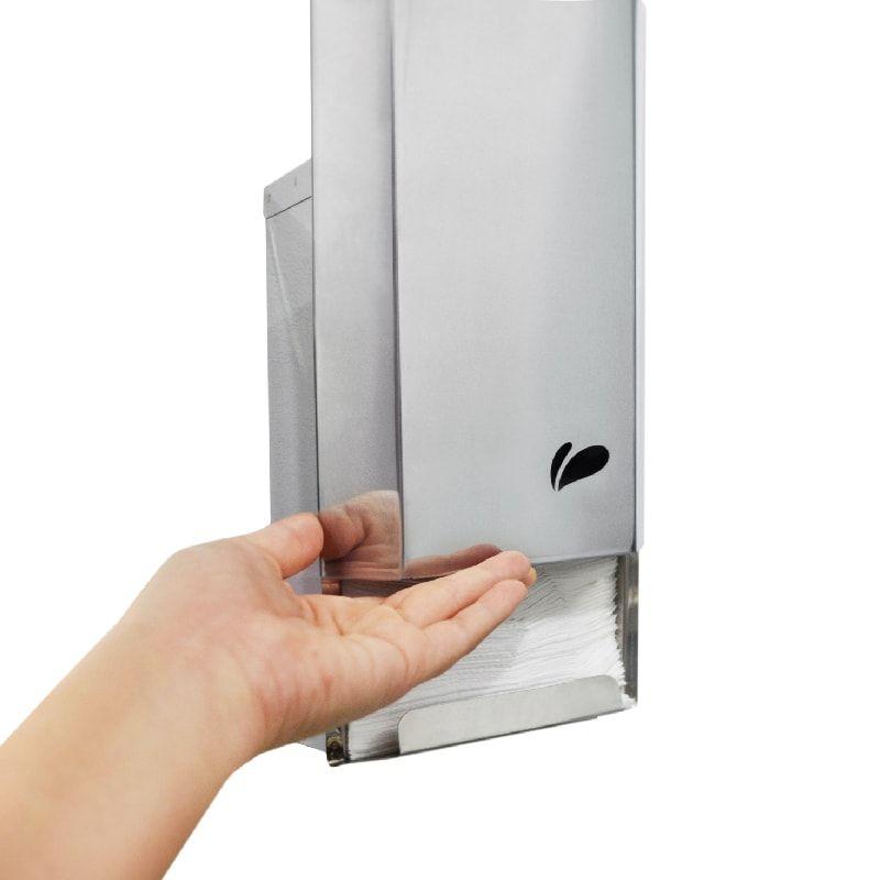 Dispenser Papel Higiênico Cai Cai Aço Inox - Biovis Linha Ideal 832