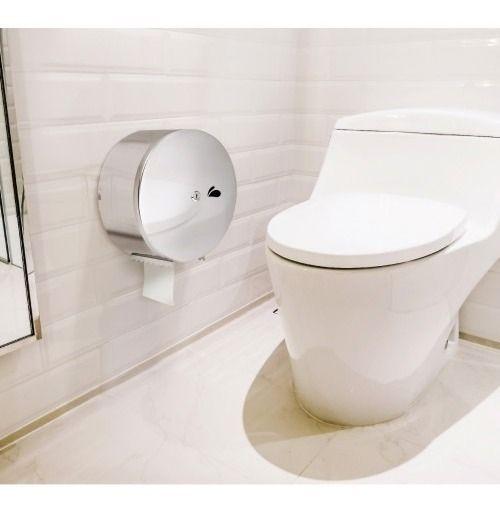 Dispenser para Papel Higiênico Rolão em Aço Inox Polido - Biovis