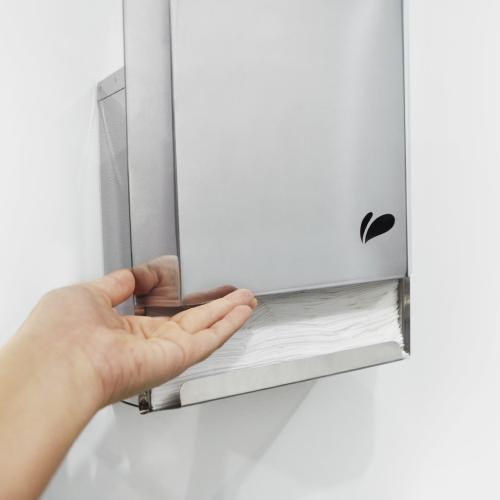 Dispenser para Papel Toalha em Aço Inox - Biovis