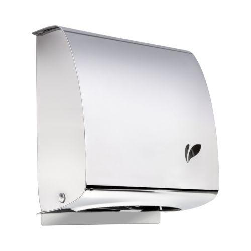Dispenser Papel Toalha Interfolhado em Aço Inox Polido - Biovis Linha Visium 13.01
