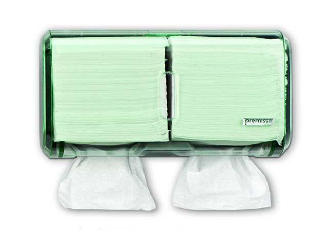 Dispenser para Papel Toalha Interfolhado ou Higienico Cai Cai - Urban Glass Verde - Premisse