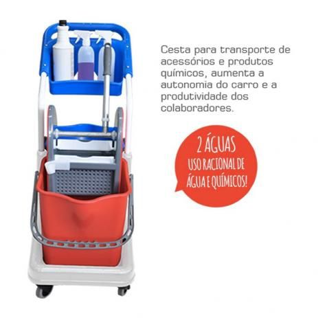 Kit Profissional Balde Espremedor 50L Completo para Limpeza - Bralimpia NYKT02 - KIT 2