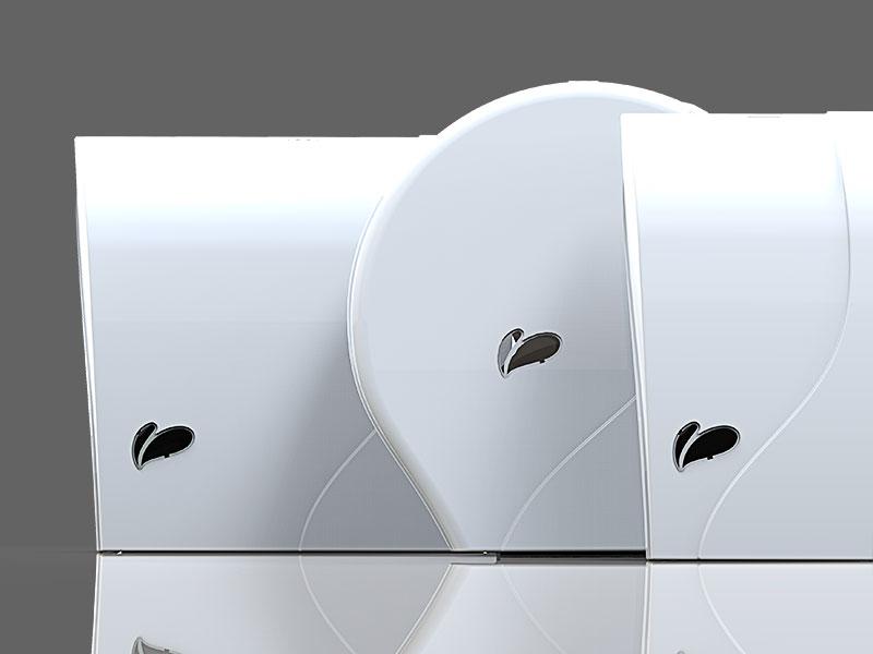 KIT com Toalheiro + Saboneteira 800ml + Porta Papel Higiênico Rolão Linha Ag+