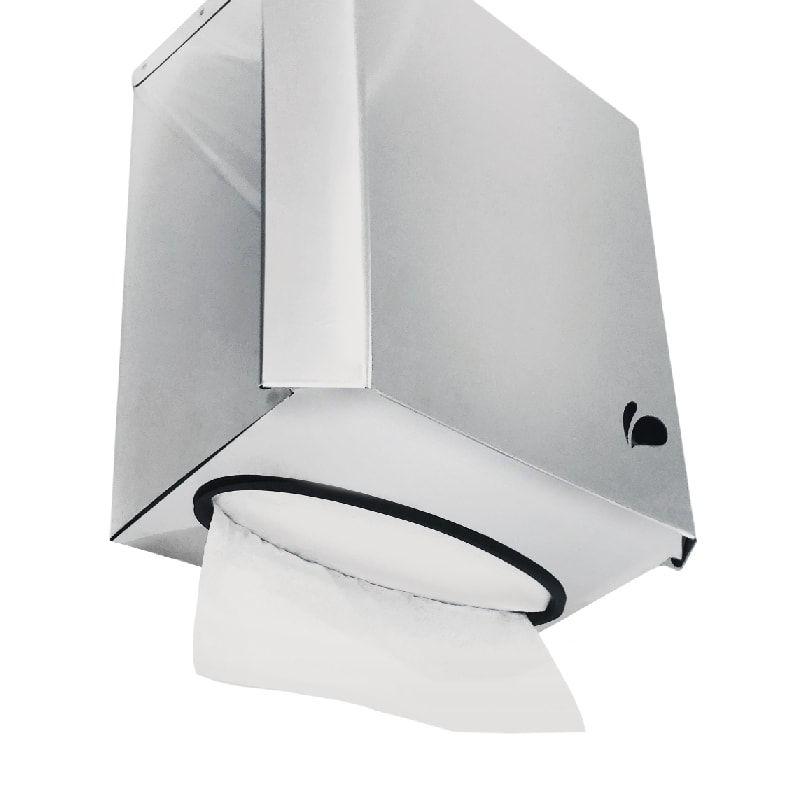 Kit ¹ Dispensers Aço Inox - P/ Papel Hig. Rolão (13.02) + Toalheiro (833) + Saboneteira (1011) - Biovis