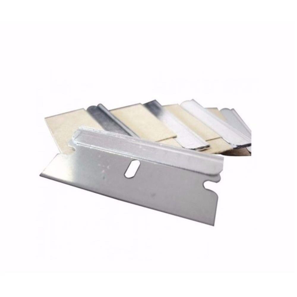 Lâminas 4 cm p/ Raspador de Segurança -10 unidades - LR801 - Bralimpia