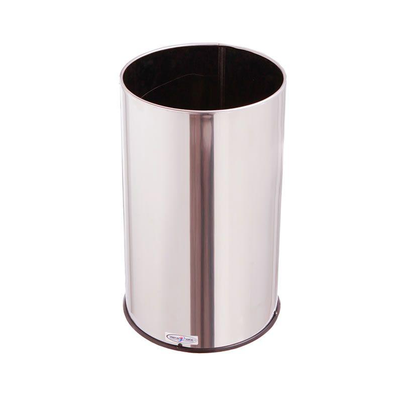 Lixeira Aço Inox 24Dx50A 25 Litros - MetalSuga
