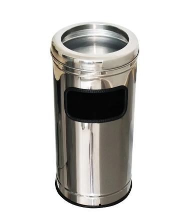 Lixeira Cinzeiro Inox Aro Inox 25lts MSP555