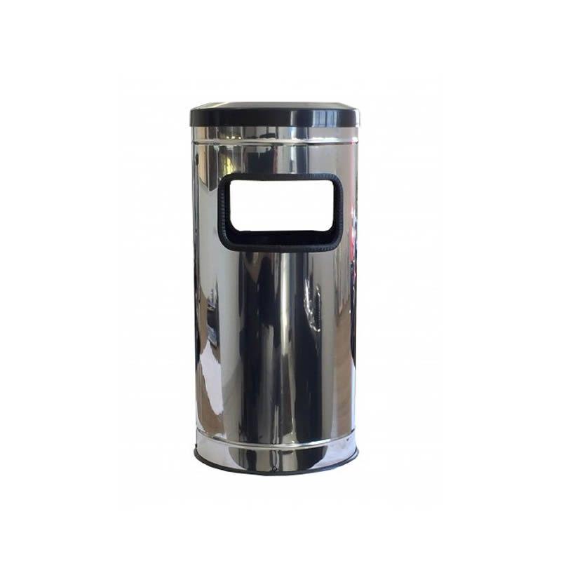 Lixeira Cinzeiro Inox Aro Plástico 25 Litros - MetalSuga