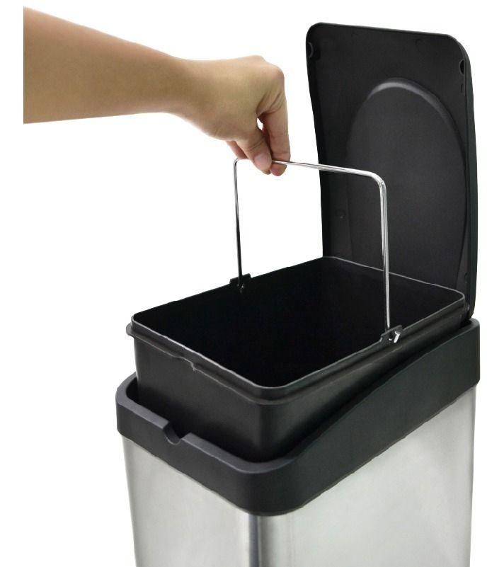 Lixeira Inox 30 litros com Pedal Biovis 181