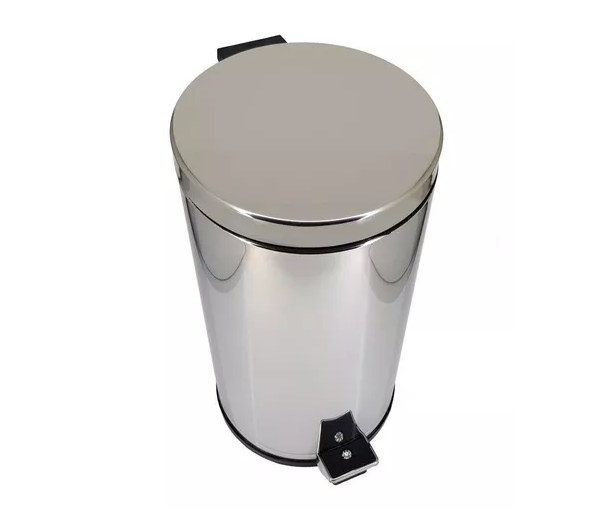 Lixeira em Aço Inox 10,5L com Pedal e Recipiente Interno -  Viel