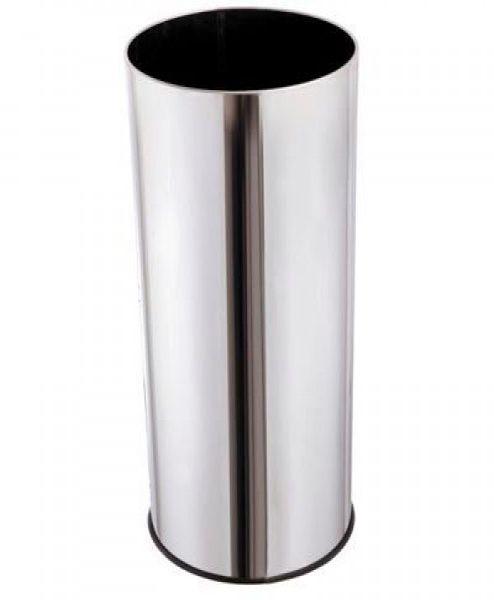 Lixeira Inox 50L com Fundo de Plástico - MetalSuga