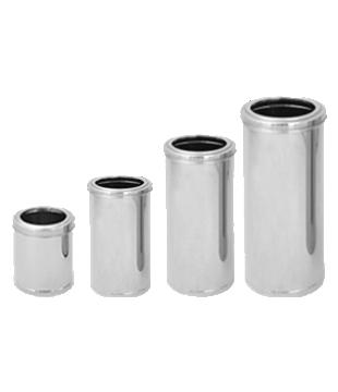 Lixeira Inox c/ Tampa Aro Inox - de 10L a 50L