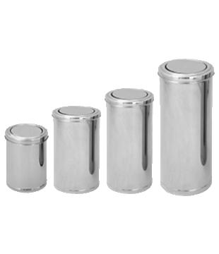 Lixeira Inox c/ Tampa Flip Top Basculante Inox - de 10L a 50L